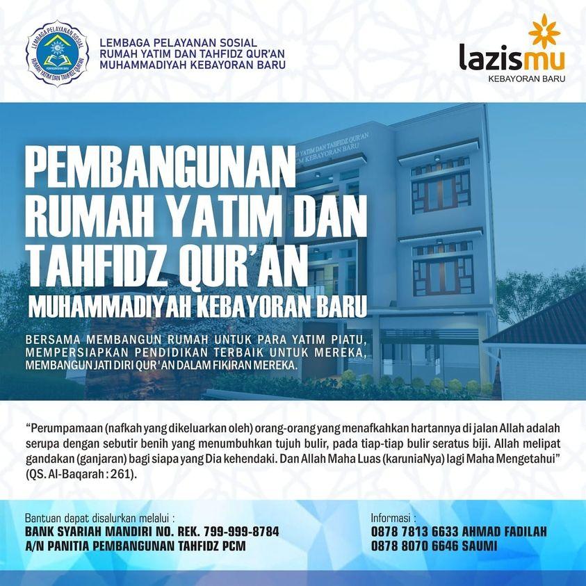 Pembangunan Rumah Yatim dan Tahfidz